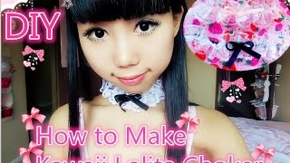 DIY Lolita Frilly Choker