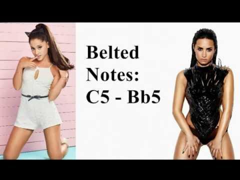 Vocal Battle: Ariana Grande VS Demi Lovato 2016 C#3 - Bb5 - E7