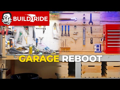 MTB Dream Garage Build with Chainsawed Tool Wall