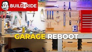 MTB Dream Garage Build with Chainsawed Tool Wall