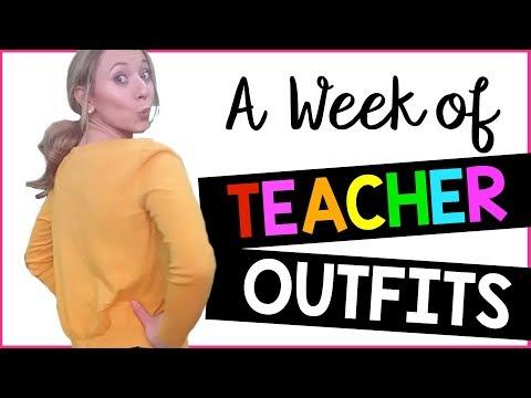 A WEEK OF TEACHER OUTFITS: OUTFIT IDEAS | A Classroom Diva