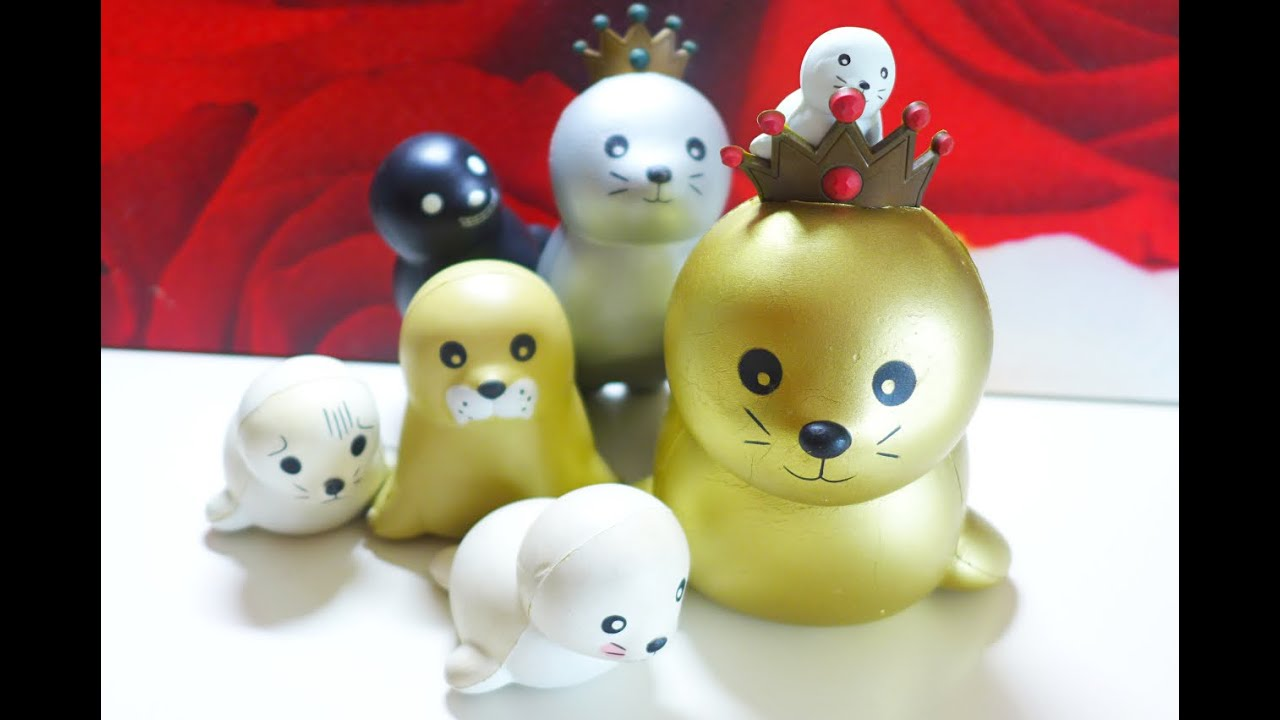 Squishy Ibloom : Close-Up: I-bloom Seal Squishy Series - YouTube