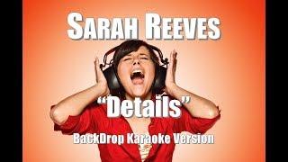 "Sarah Reeves ""Details"" BackDrop Christian Karaoke"