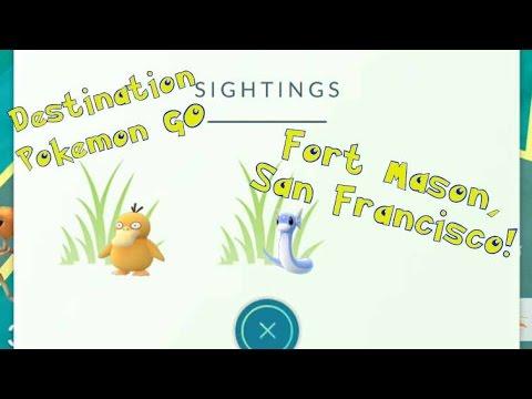 Destination Pokémon GO! Fort Mason in San Francisco! Dratini and Ghastly Nest!