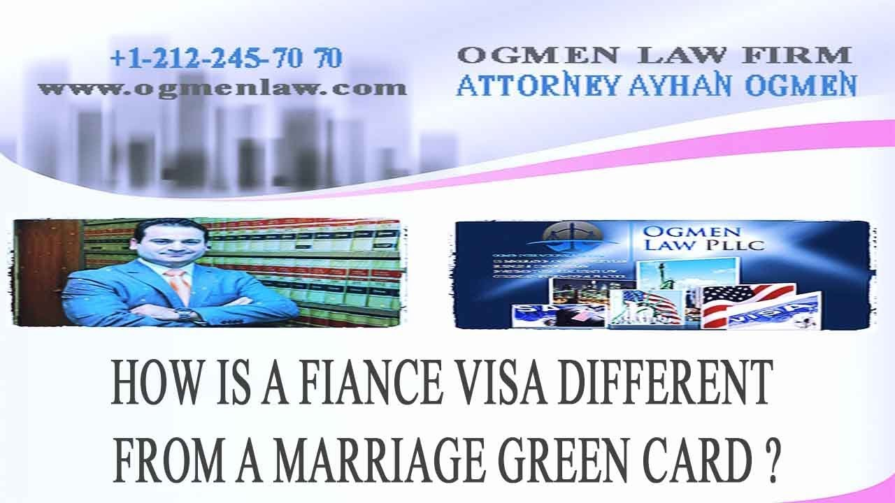 how is a fiance visa different from a marriage green card