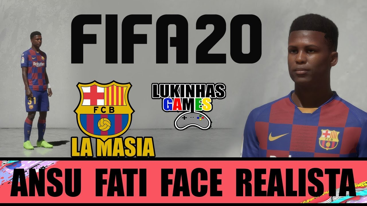 Fifa 20 Ansu Fati Barcelona Face Realista Tutorial How To Make Look Alike Youtube