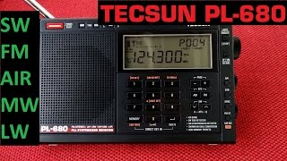 Tuning ALL the Tecsun PL-680 bands! SW, FM, AIR, MW and LW