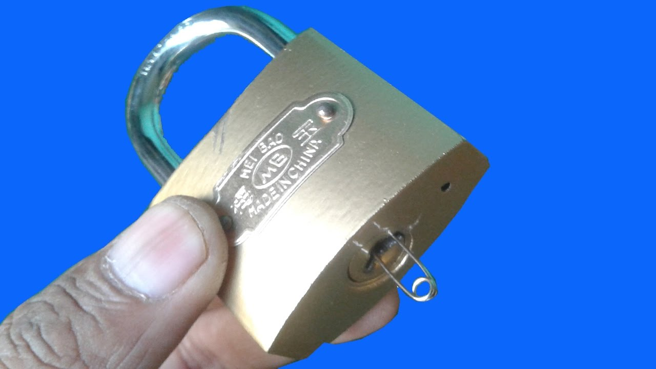 3 Ways Open A Lock With Safety Pin Youtube