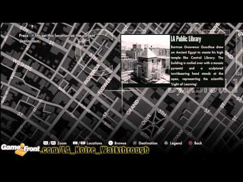 LA Noire - Star Map Achievement / Trophy Walkthrough PT4 - All 30 Landmarks