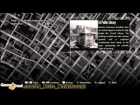 LA Noire - Star Map Achievement / Trophy Walkthrough PT4 - All 30 Landmarks
