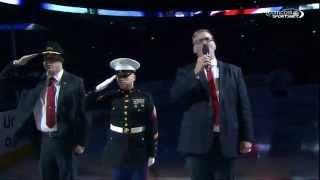 Blackhawks vs Canadiens 12/5/2014 National Anthems