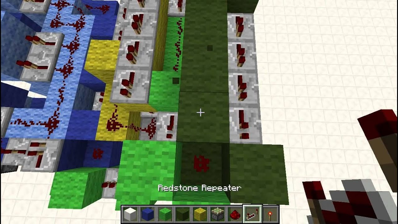 2x2 Car Piston Elevator (up & down) TUTORIAL - Minecraft ...