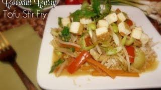 Healthy Coconut Curry Tofu Stir-fry Recipe