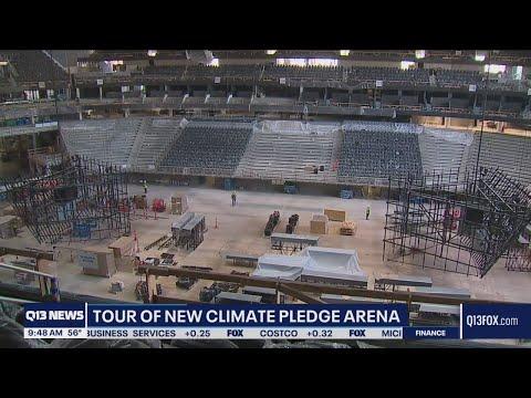Tour of new Climate Pledge Arena, home of Seattle Kraken | Q13 FOX Seattle