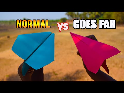 how to make paper plane that flies far- classic vs world record airplane