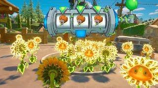999 GIRASOLES VS 3 ZOMBIS BAILON | Plants Vs Zombies: Garden Warfare 2