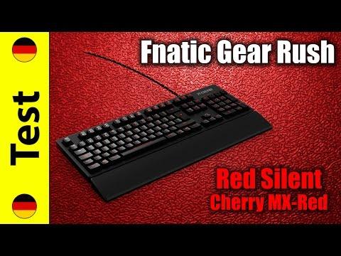 Fnatic Gear Rush Red Silent Test | Cherry MX Silent Red (deutsch)