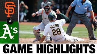 Giants vs. Athletics Game Highlights (8/21/21)