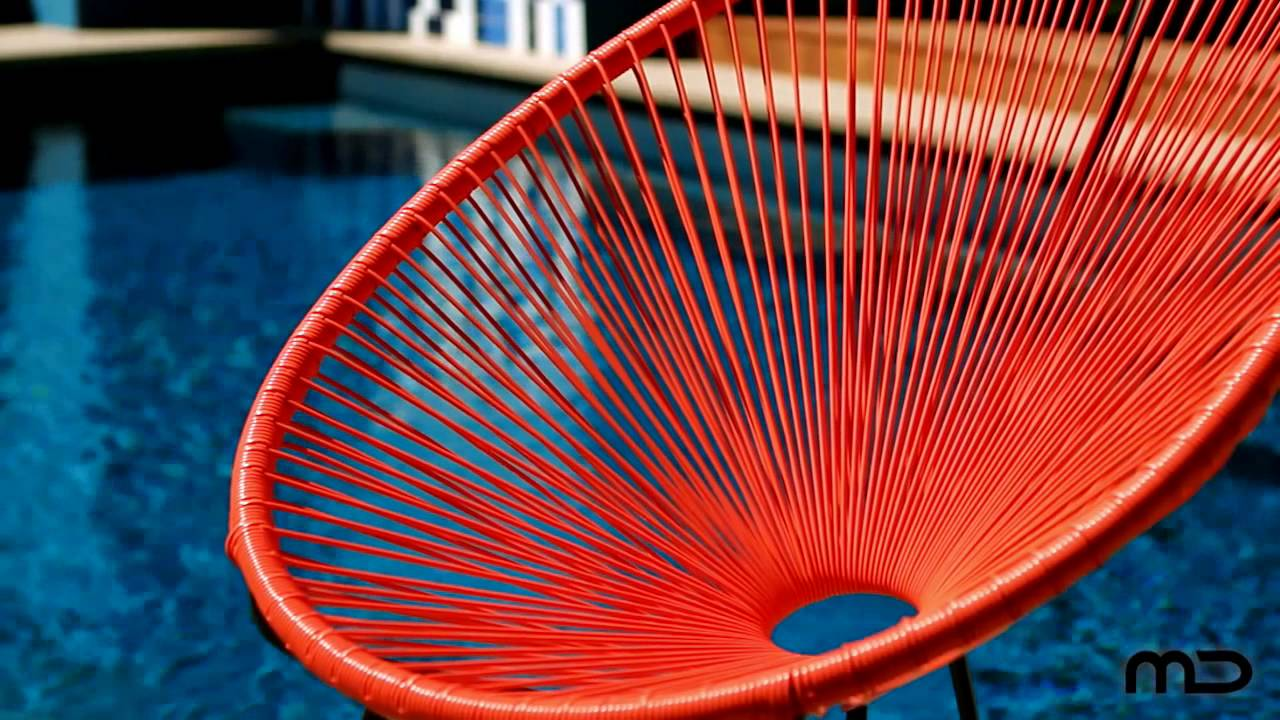 Acapulco Lounge Chair Replica Outdoor Wicker Orange