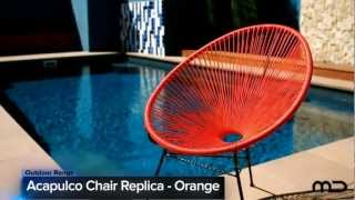 Acapulco Lounge Chair Replica - Outdoor Wicker - Orange - Milan Direct Uk
