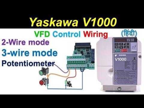 🔴 yaskawa drive parameter setting | programming | connection ... yaskawa wiring diagram  youtube