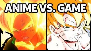 Dragon Ball Z: Kakarot - Anime vs. Game (Goku Turns Super Saiyan For The First Time)