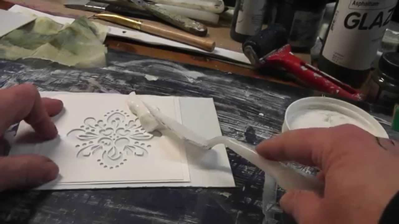 Make Your Own Embossing Plate From Stencil - YouTube