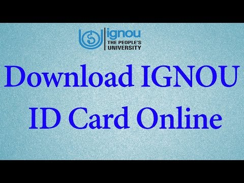 How to Download IGNOU ID Card Online