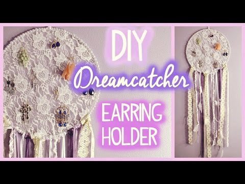Dream Catcher Earring Holder DIY Dreamcatcher Earring Holder EASY YouTube 2