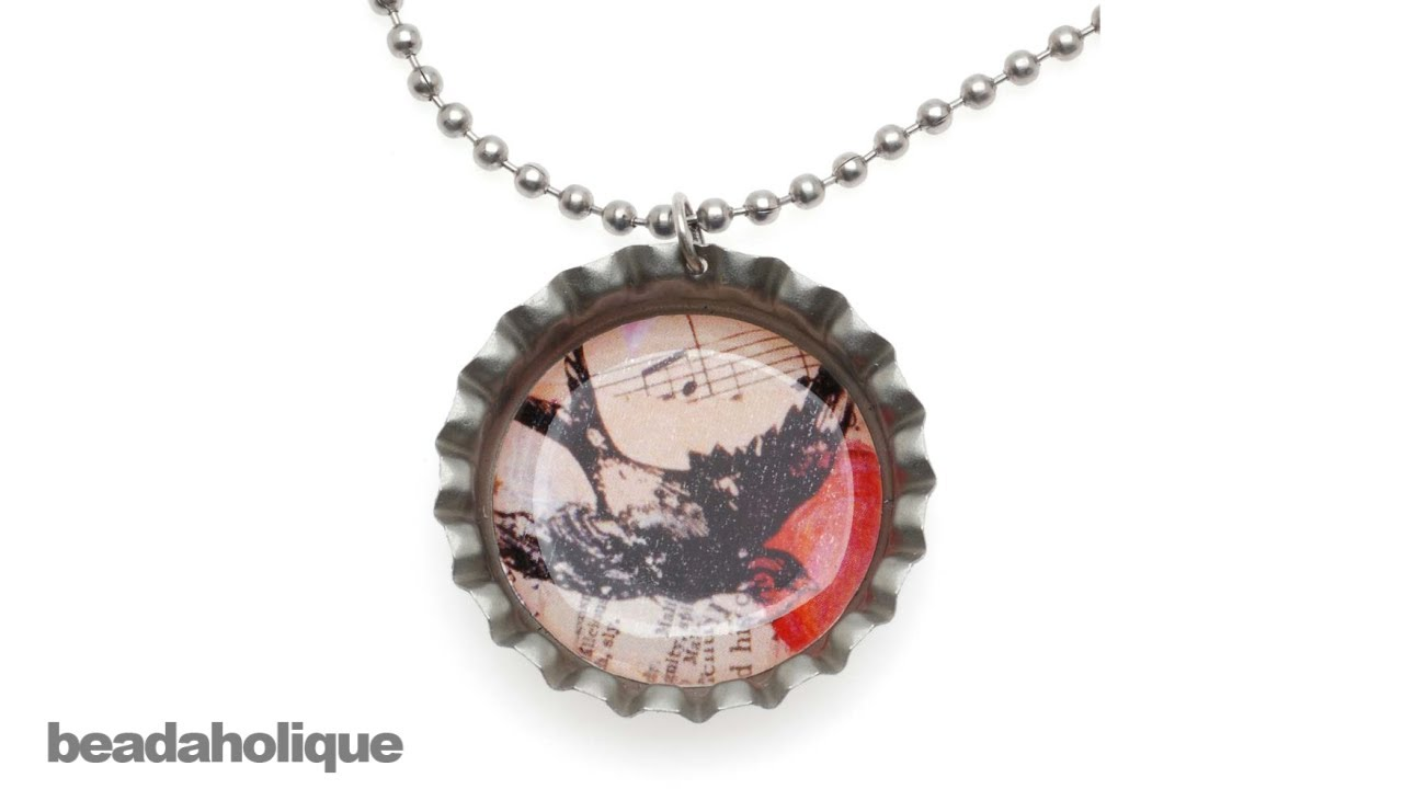 How To Make A Bottle Cap Pendant Necklace Using Epoxy