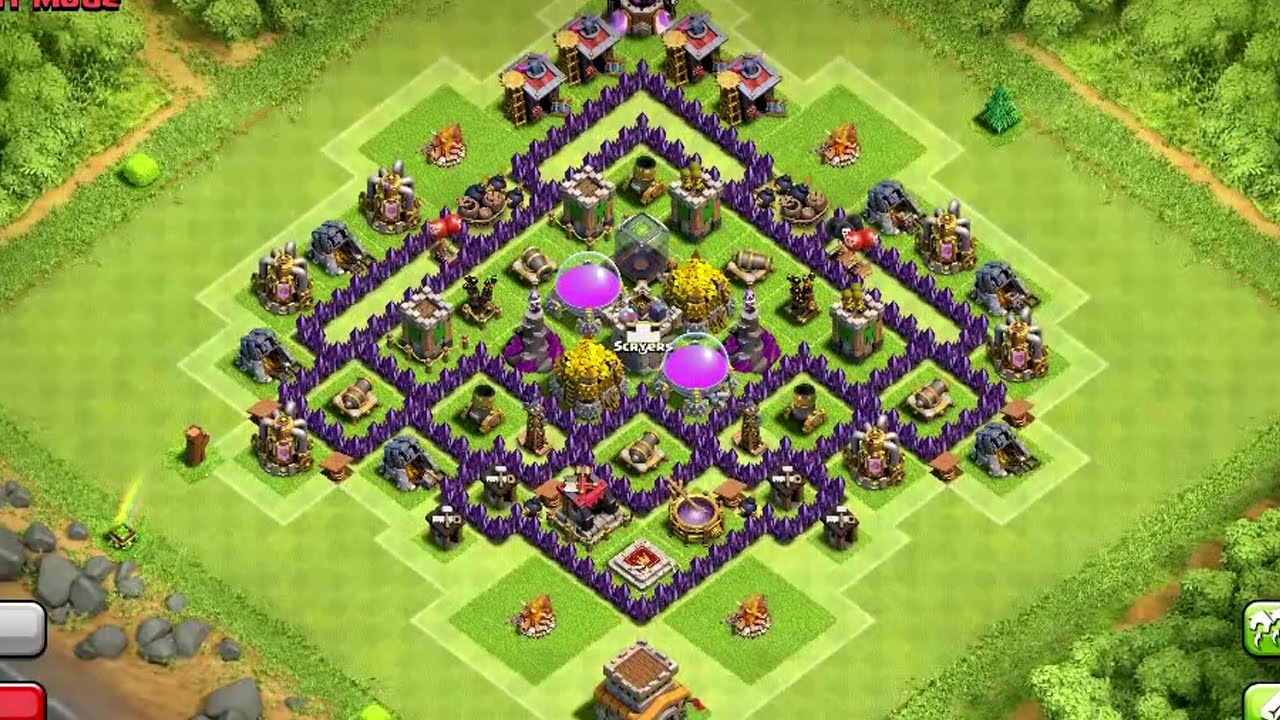 Clash Of Clans Town Hall 7 Farming Base Speed Build Youtube