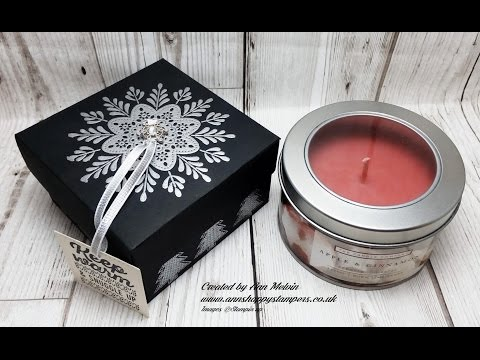 #7 Seasonal Sundays Heat Embossed Gift Box for large Tin Candle