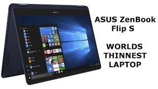 DuB-EnG: ASUS ZenBook Flip S unbox review thinnest laptop 2in1 tablet stylus pro ipad UX370UA 13.3