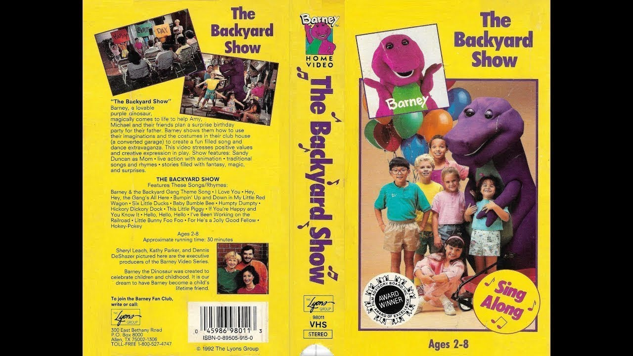 Opening and Closing to Barney - The Backyard Show 1992 VHS ...