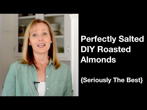 Perfectly Salted DIY Roasted Almonds {Seriously The Best} - AnOregonCottage.com