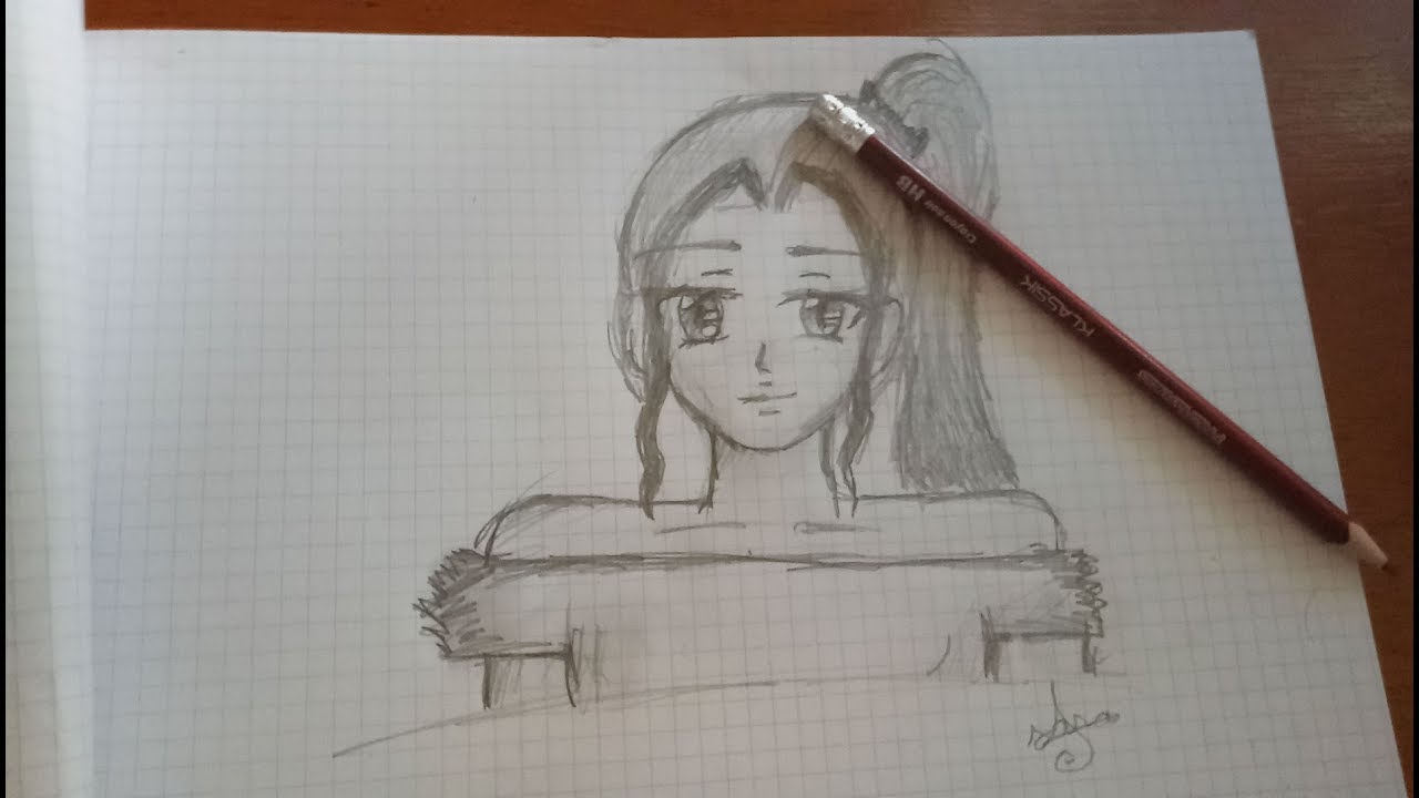tuto dessiner une fille manga simple youtube. Black Bedroom Furniture Sets. Home Design Ideas