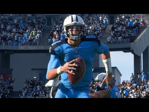 Madden 18 Titans Marcus Mariota Returns vs Jaguars I'm Hit With The Fumbling Cheese!!!