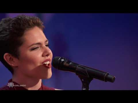 """Simons Golden Buzzer-America's Got Talent-Calysta Bevier Sings-Rachael Platten's """"Fight Song""""-HD"""
