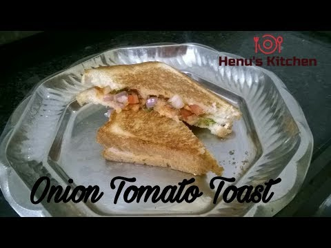 Onion and Tomato Sandwich|| Quick and Easy Breakfast||