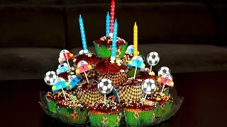 Кексы для детей. Маффины. Торт из капкейков. С шоколадной глазурью. Моя Dolce vita