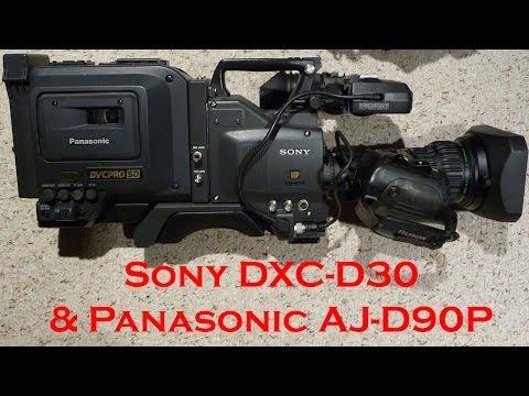 Sony DXC-D30 + AJ-D90P DVCPRO 50 via Composite ~Demo~ SD in HD