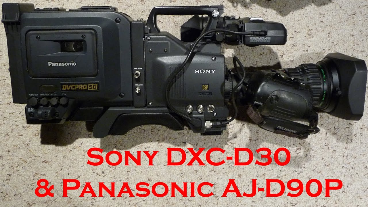 sony dxc d30 aj d90p dvcpro 50 via composite demo sd in hd youtube rh youtube com Operators Manual sony dxc d30 manual