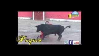 PUQUIO LUCANAS  AYACUCHO 2014 CORRIDA DE TOROS URIEL MORENO EL ZAPATA, SEBASTIAN VARGAS   FERNANDO R