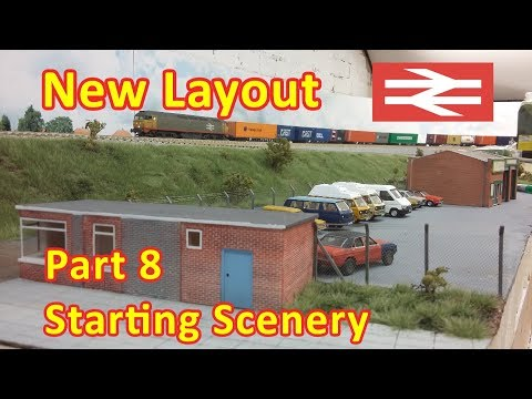 New Layout Build – Starting Scenery