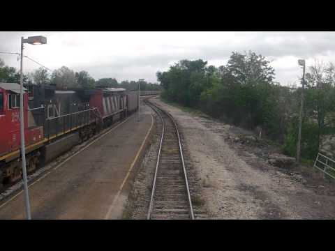 Amtrak's City of New Orleans Through Jackson, MS/Pacing a Coal Train