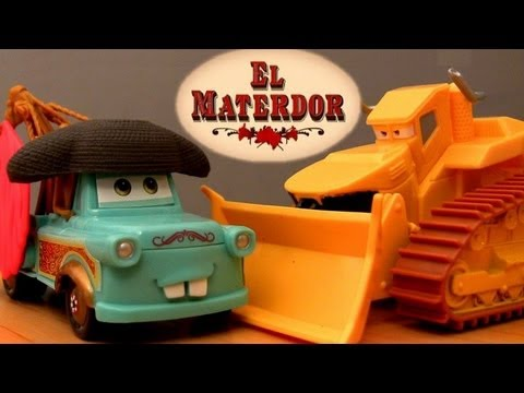 El Materdor track playset with Chuy CARS TOON Mater's tall tales toys Disney Pixar El Chuy