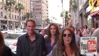 Cindy Crawford, Rande Gerber and daughter Kaia Jordan Gerber leave dinner at Katsuya and walk to Pan