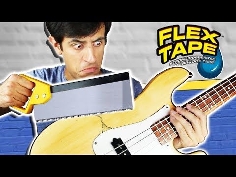 I SAWED THIS BASS IN HALF and repaired it with FLEX TAPE