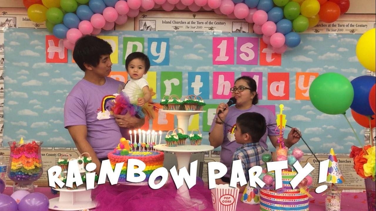 Filipino Food And Fun Feeveeh S 1st Birthday Youtube