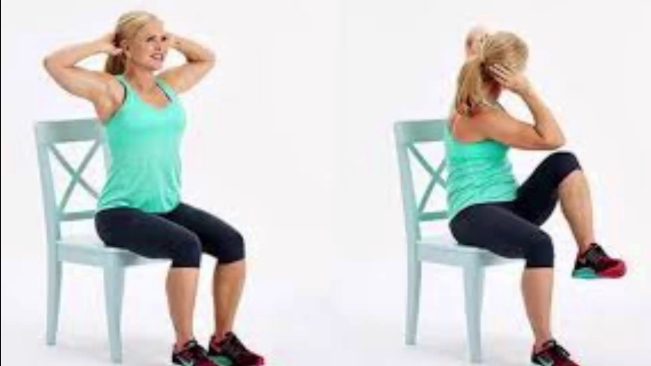 Chair Exercises On Cable Tv Extending Round Table And Chairs 5 That Will Reduce Your Belly Fat While You Sit - Youtube